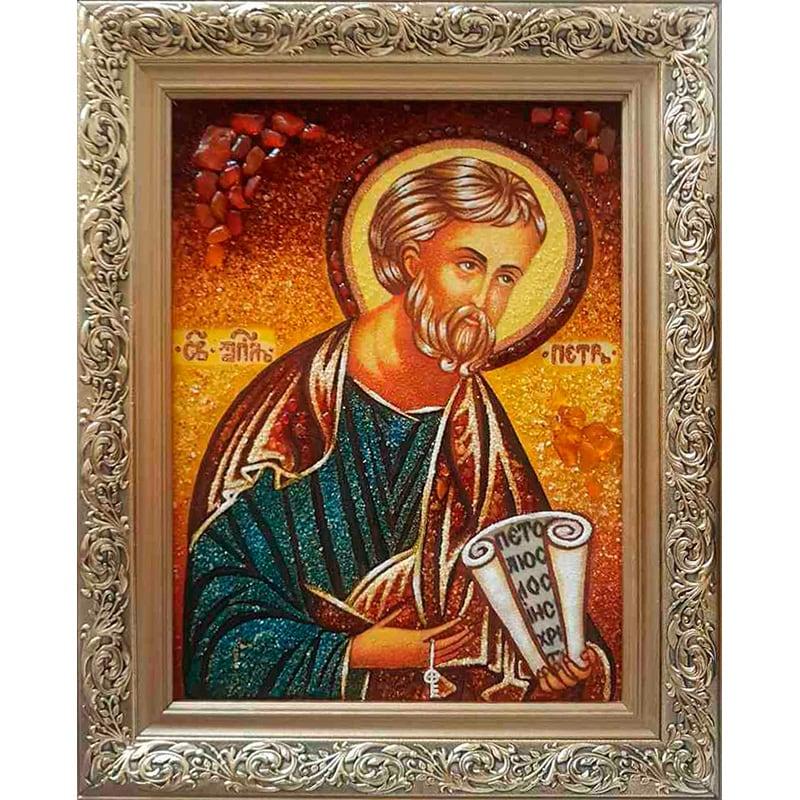 Икона в янтаре именная Св. Апостол Петр
