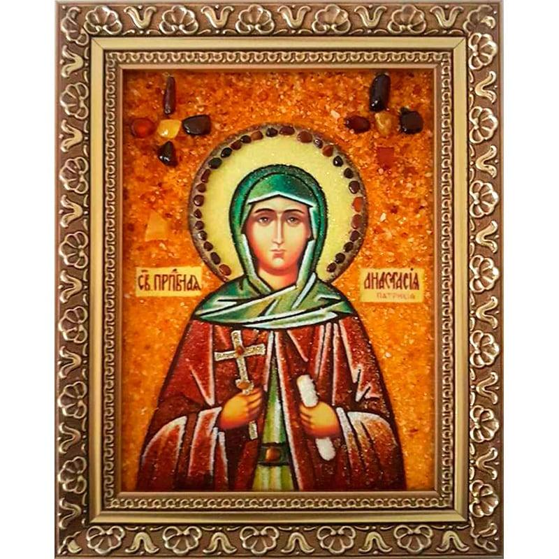 Икона из янтаря в подарок Св. Анастасия Патрикия Преподобная