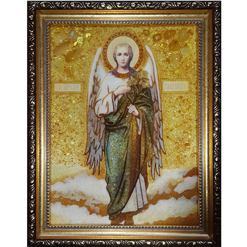 Икона в янтаре в подарок Архангел Гавриил