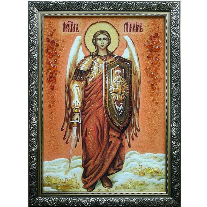 Именная икона из янтаря Архангел Михаил
