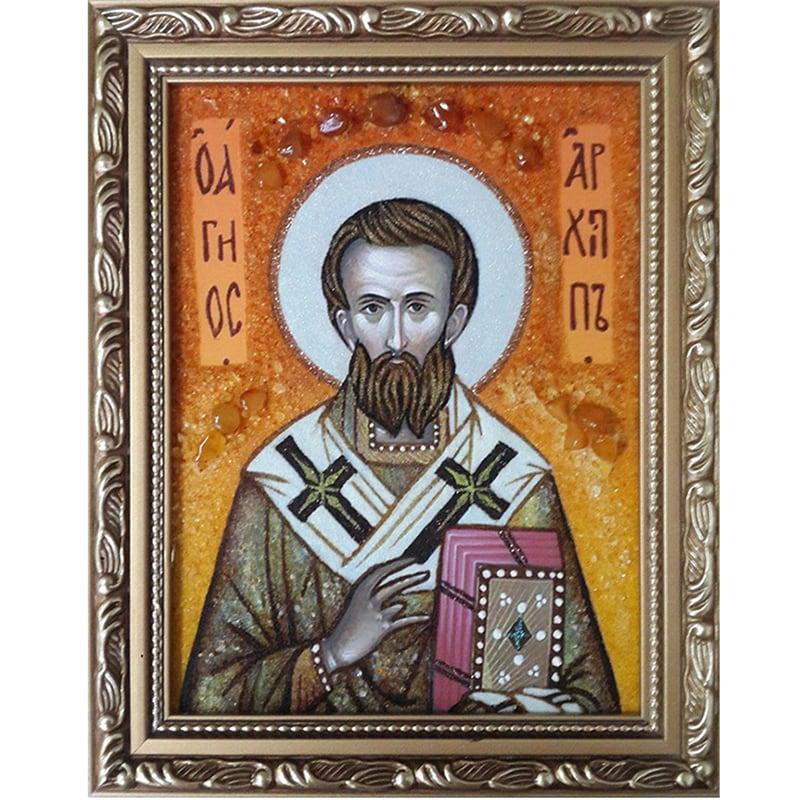 Іменна ікона в бурштині Св. Архип Колоський