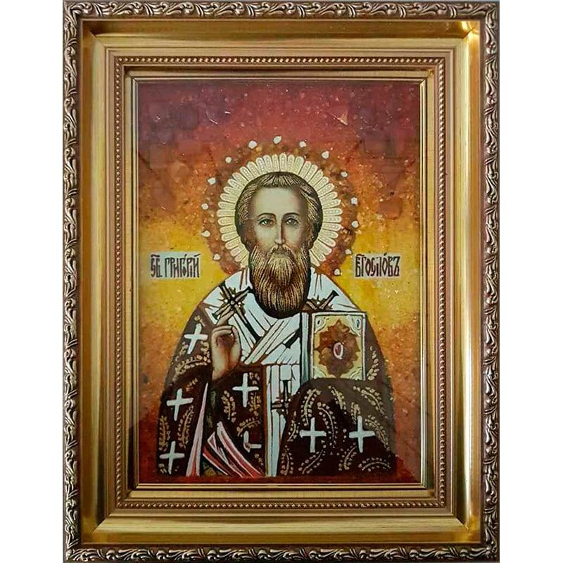Икона в янтаре в подарок Св. Григорий Богослов