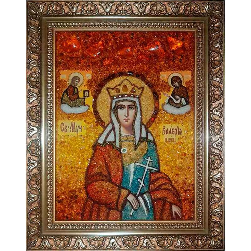 Именная икона в янтаре Св. Мученица Валерия