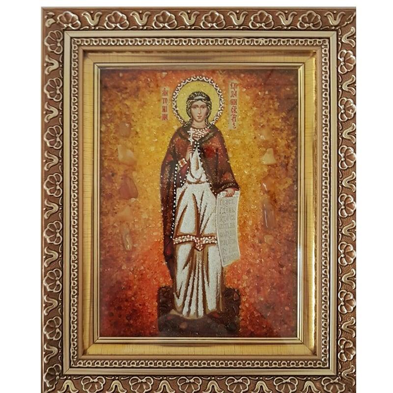 Икона именная из янтаря Св. Мученица Антонина Никейская