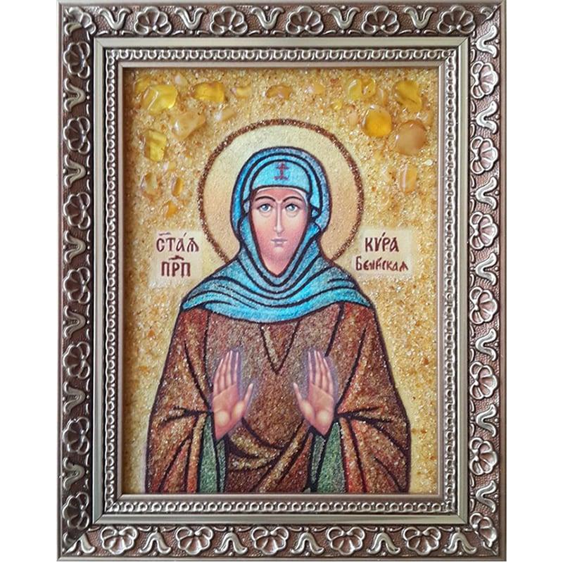 Икона из янтаря Преподобная Кира Берийская