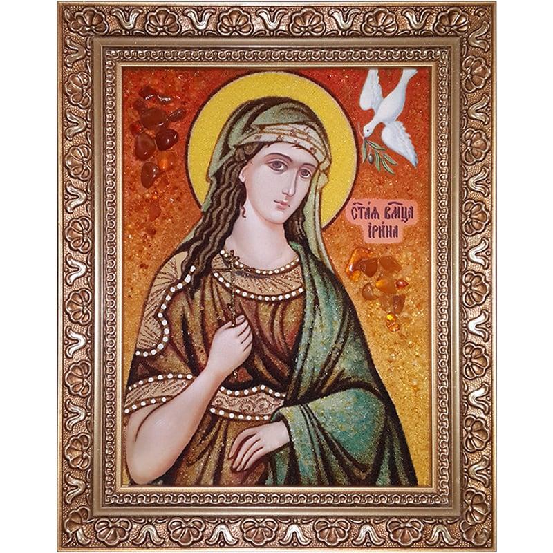 Именная икона из янтаря Св. Великомученица Ирина