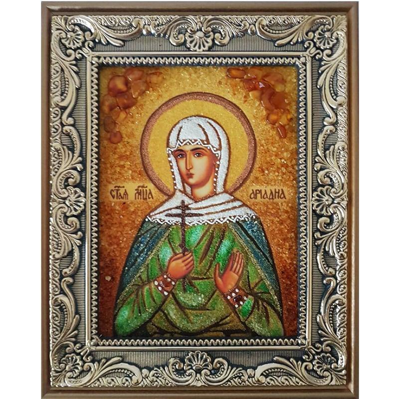Именная икона в янтаре Святая Ариадна