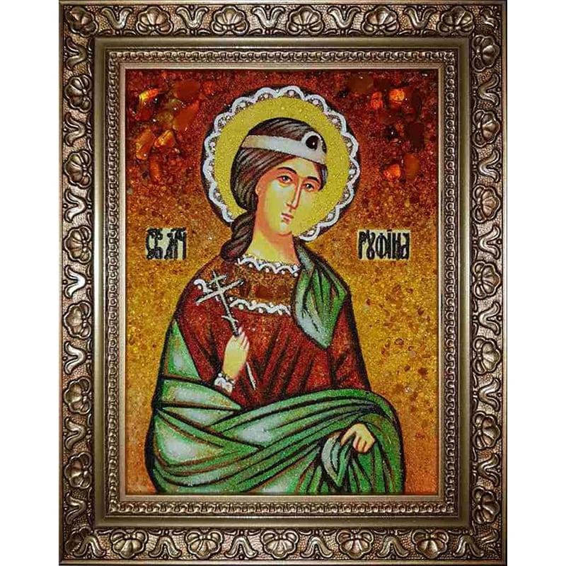 Икона из янтаря handmade Св. Мученица Руфина