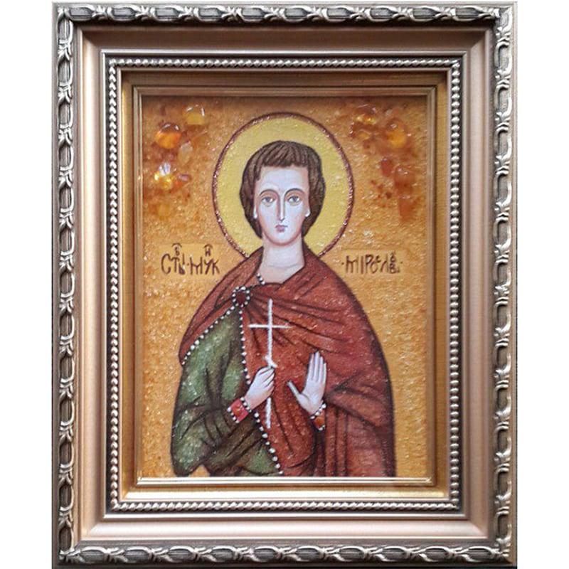 Икона из янтаря именная Св. Мученик Мирослав