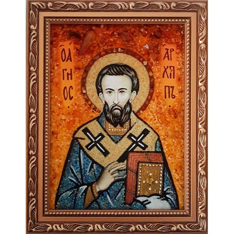 Ікона з янтаря handmade Святий Архип