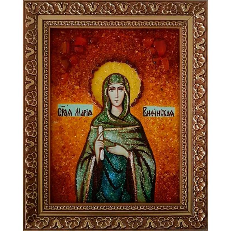 Ікона в бурштині handmade Св. Марія Міфінська