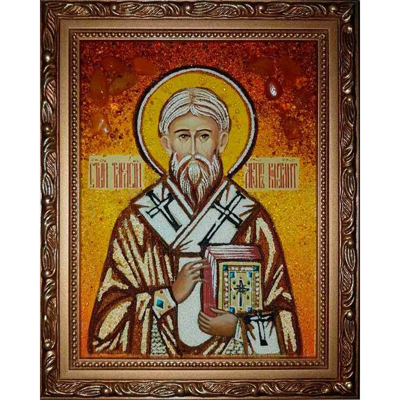 Именная икона из янтаря Святой Тарасий