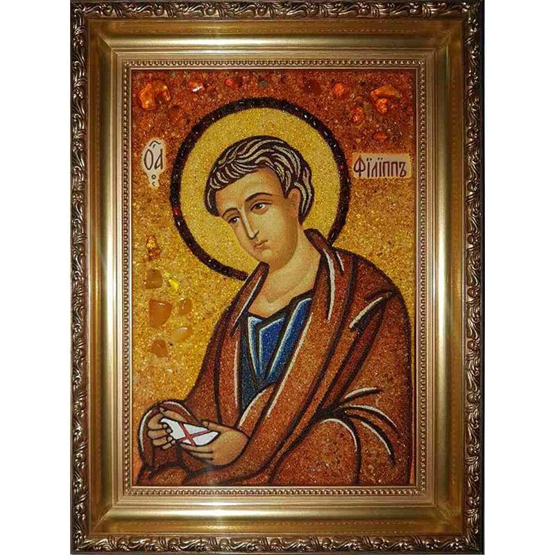 Икона именная из янтаря Св. Апостол Филипп