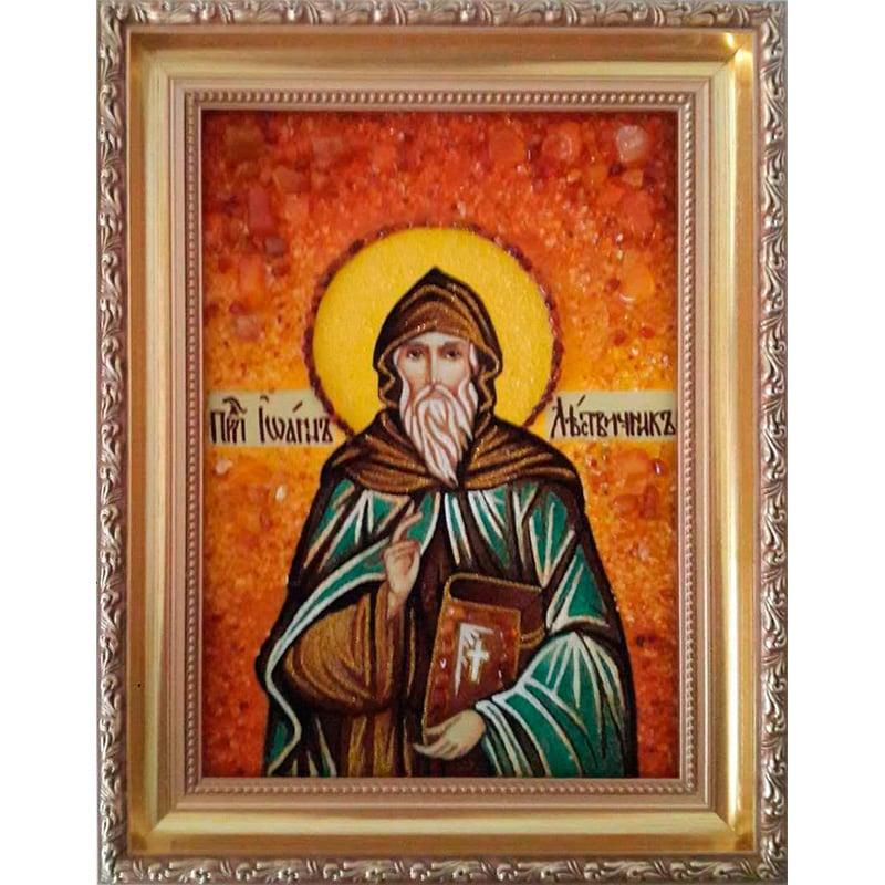 Именная икона из янтаря Св. Иоанн Лествичник