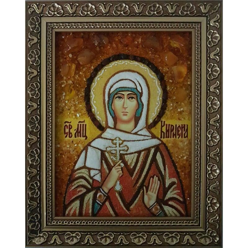 Икона именная из янтаря Св. Кириена Тарсийская