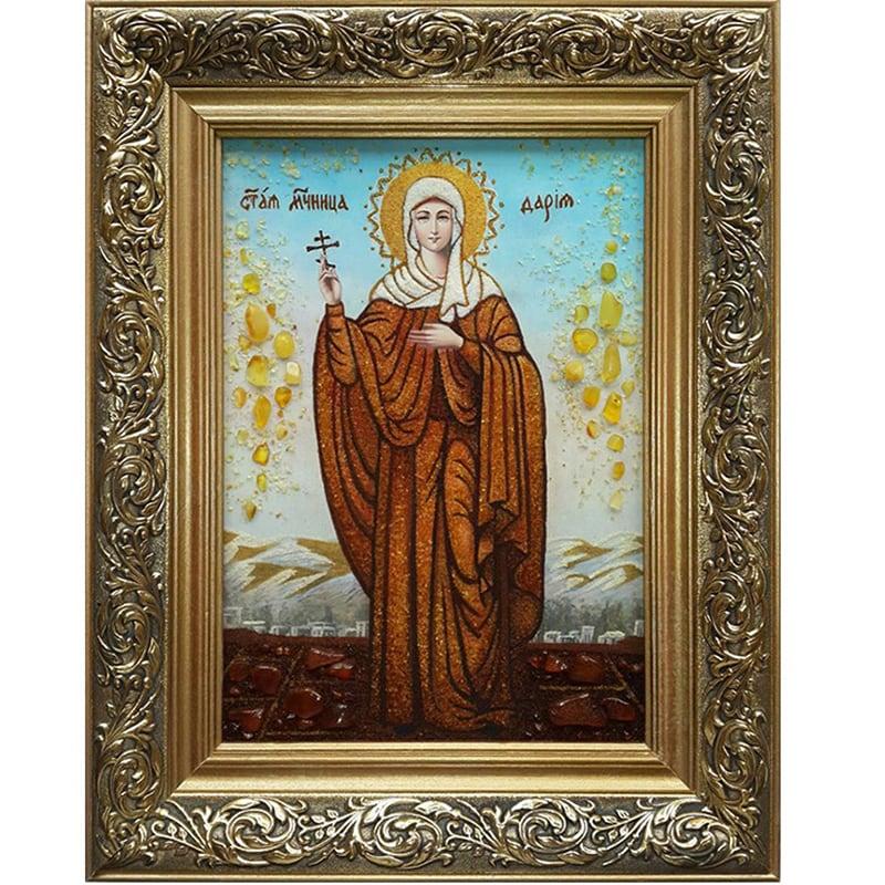 Именная икона из янтаря Великомученица Дарья Римская