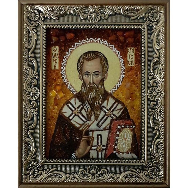 Іменна ікона в бурштині Св. Андрій Первозванний