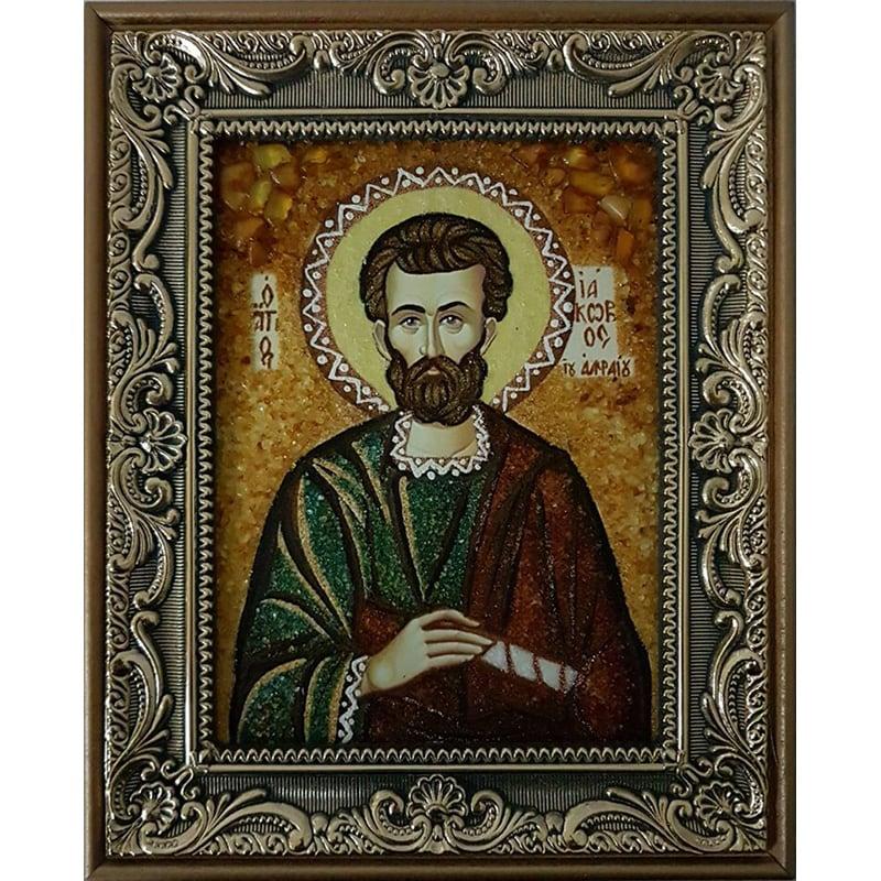Икона из янтаря на заказ Св. Апостол Иаков Алфеев