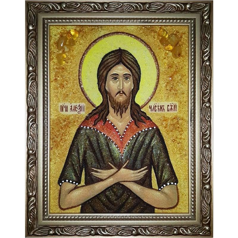 Авторская икона на заказ Преподобный Алексий