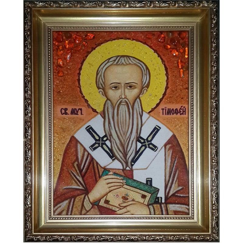 Икона из янтаря ручной работы Св. Тимофей Эфесский