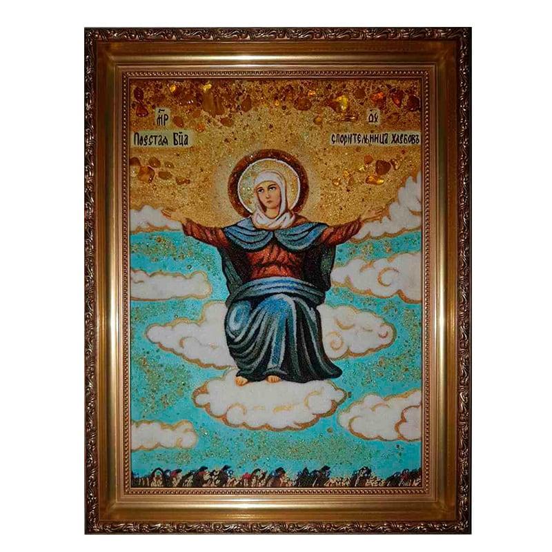 Икона из янтаря Божьей Матери Спорительница Хлебов