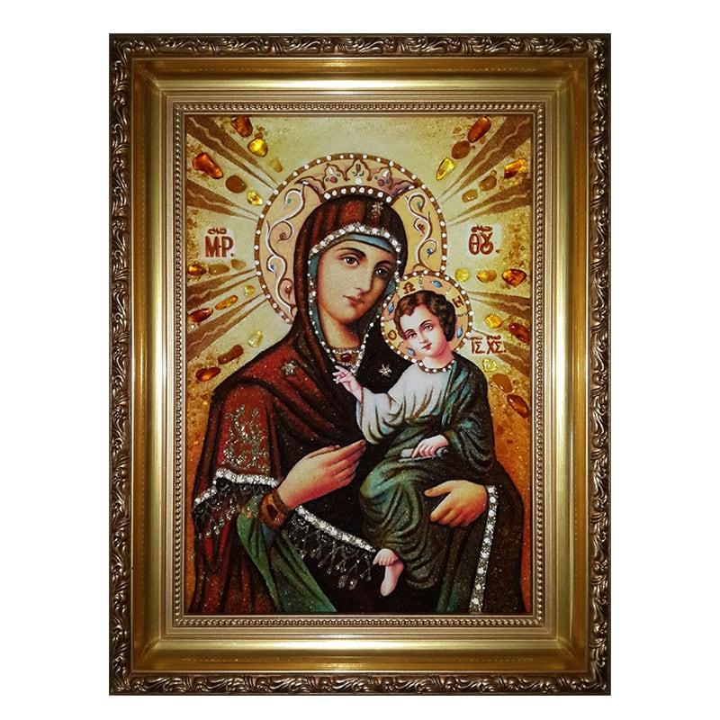 Икона из янтаря Смоленской Божьей Матери