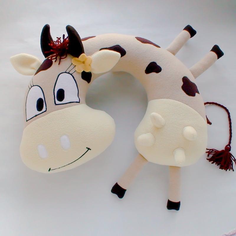 Подушка валик детская Cream Cow