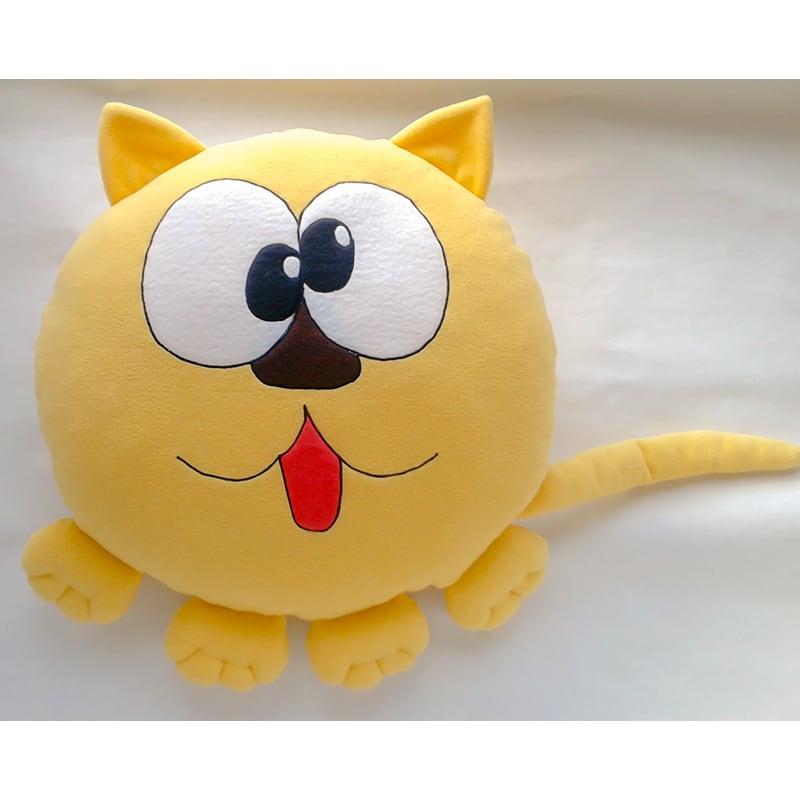 Подушка дитяча декоративна Yellow Kitten