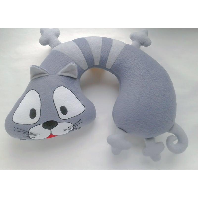Подушка підголовник дитяча Gray Сat