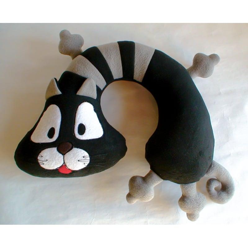 Детская подушка подголовник Black Сat