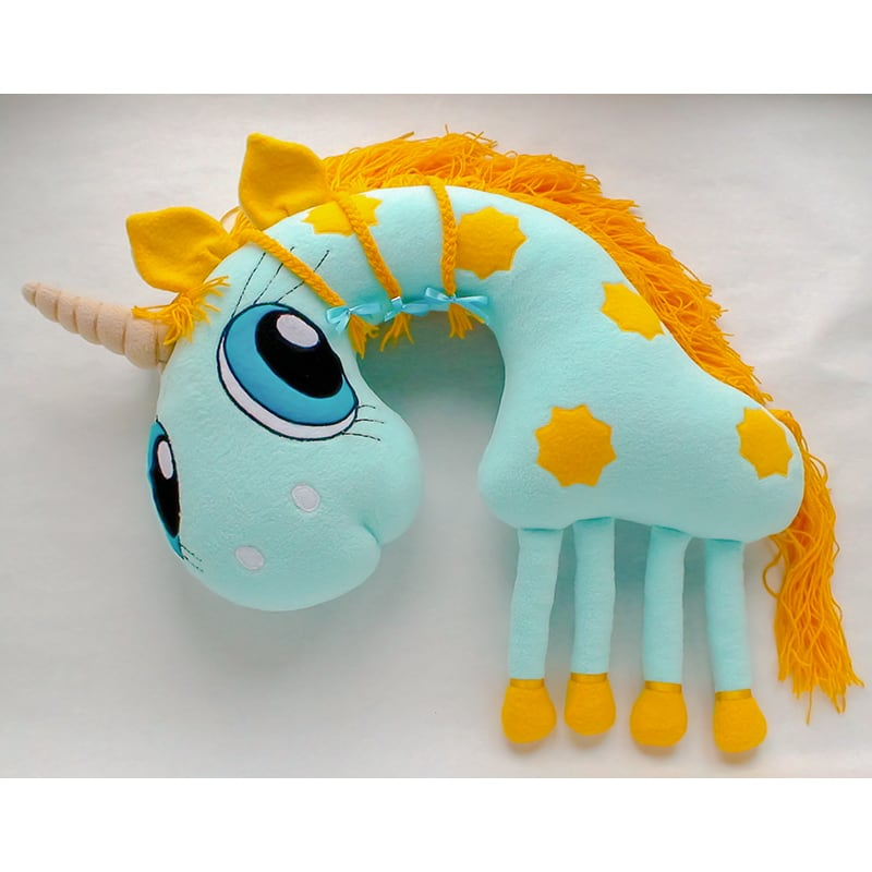 Подушка підголовник дитяча Blue Unicorn