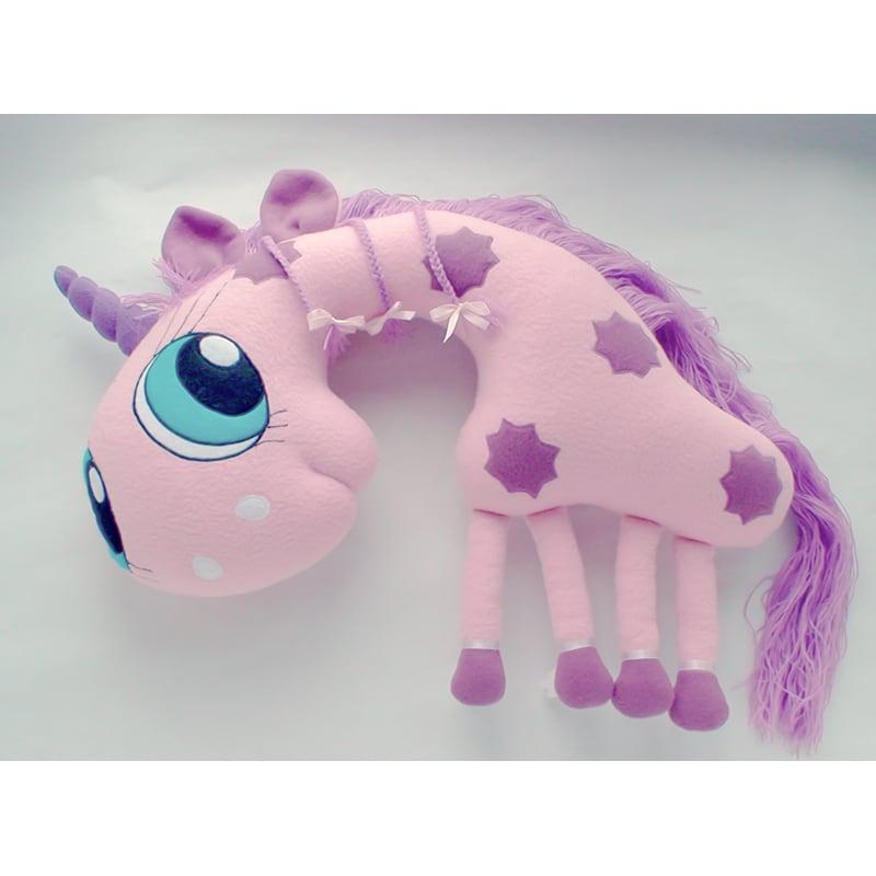 Подушка подголовник детская Pink Unicorn