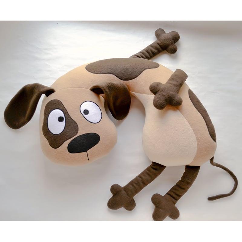 Детская подушка подголовник Brown Puppy
