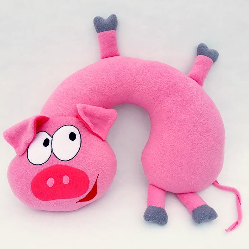 Подушка підголівник для дівчинки Pink Piggy