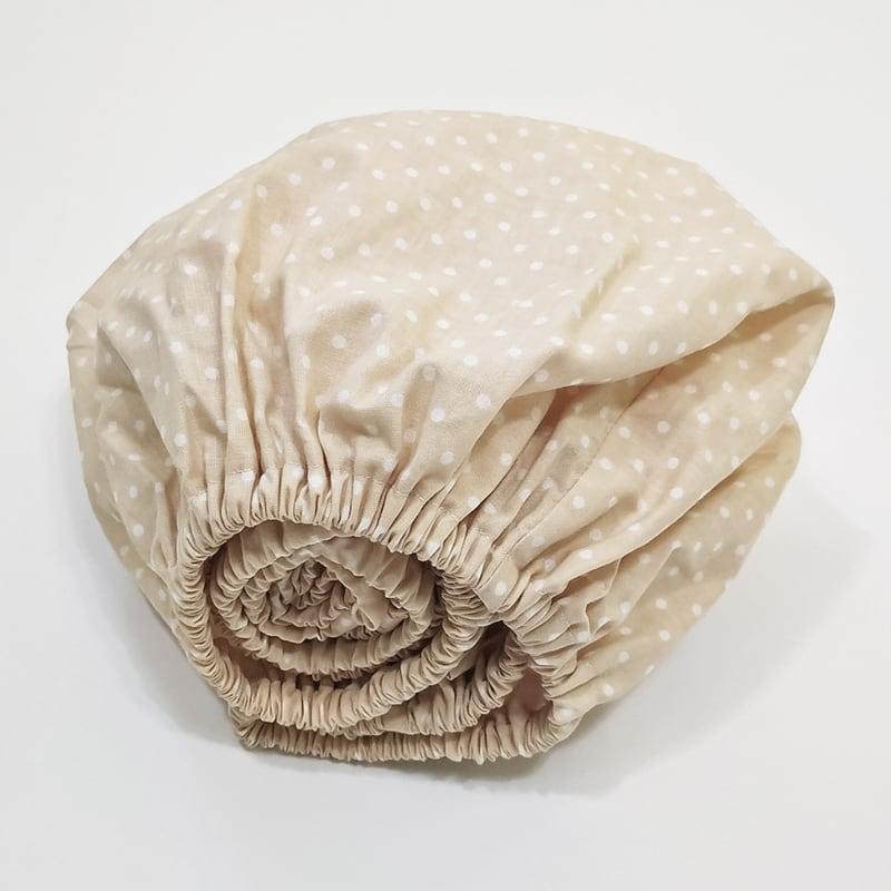Простынь на резинке 120x60 Cream Peas