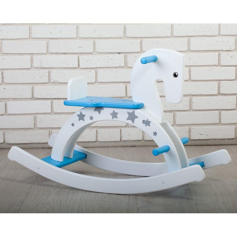 Іграшка гойдалка для хлопчика Лазурний Поні